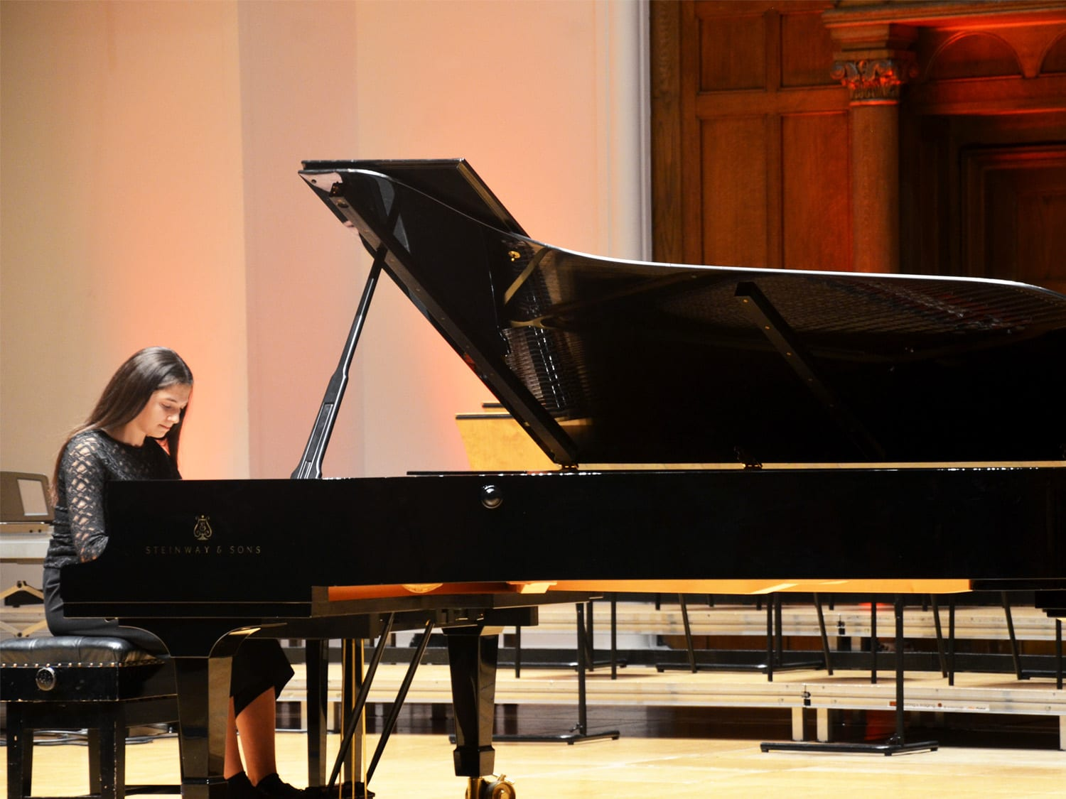 Sophia Short, Bromley's first Steinway scholar, playing at Cadogan Hall